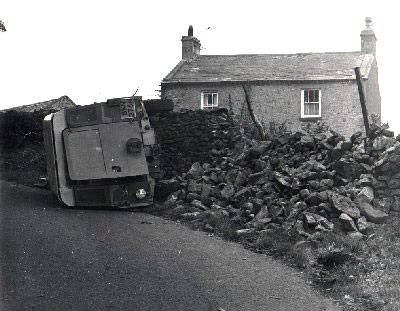 Shags Landrover, Road to Leck Fell October 1973